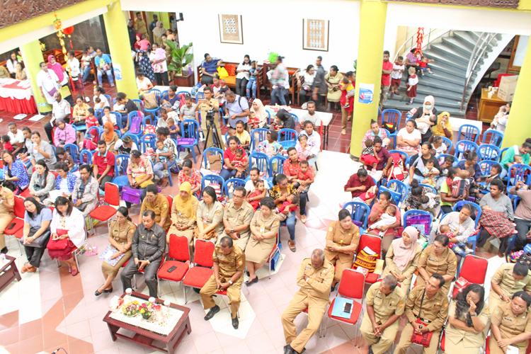 Suasana Lomba Balita Dan Bayi Sehat Dalam Rangka HUT Ke-110 Kota Jayapura