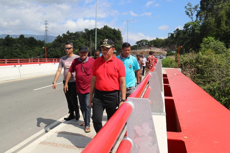 Sidak Wakil Walikota Di Jembatan Youtefa