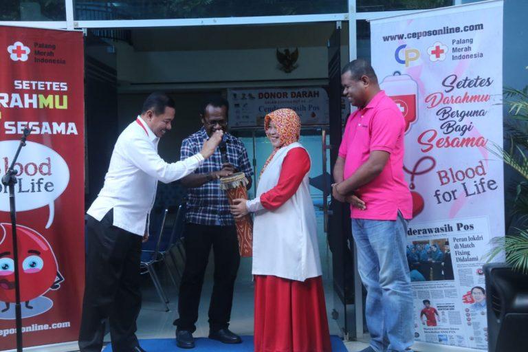Wakil Walikota Dan Sekda Kota Jayapura Pada Pembukaan Kegiatan Donor Darah
