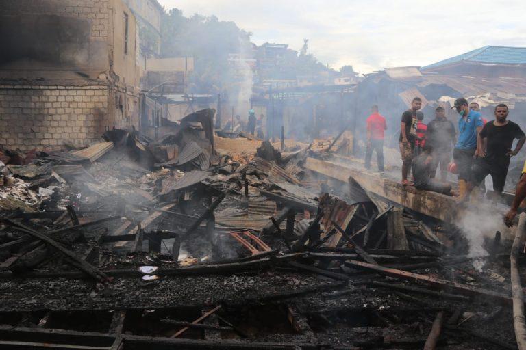 Lokasi Kebakaran Di Hamadi Yang Terjadi Sabtu, 14 Maret 2020