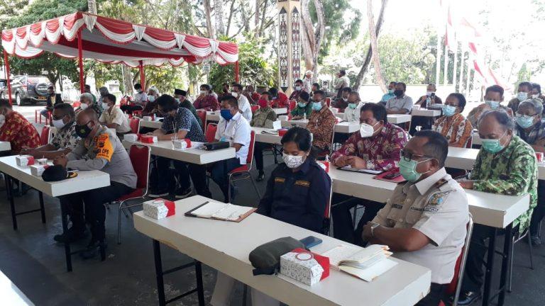 peserta rapat evaluasi penanganan covid-19 kota Jayapura
